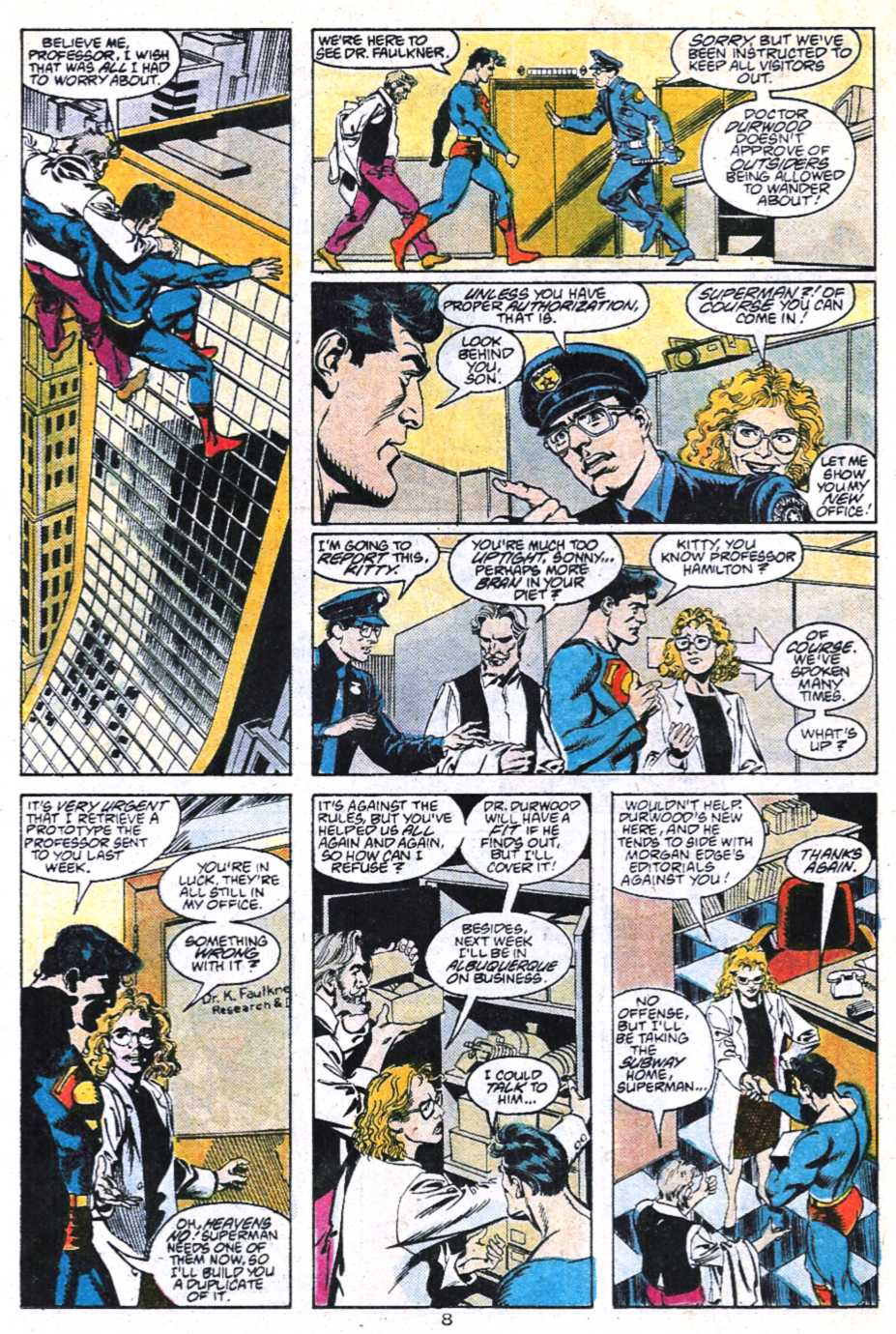 Read online Adventures of Superman (1987) comic -  Issue #450 - 9