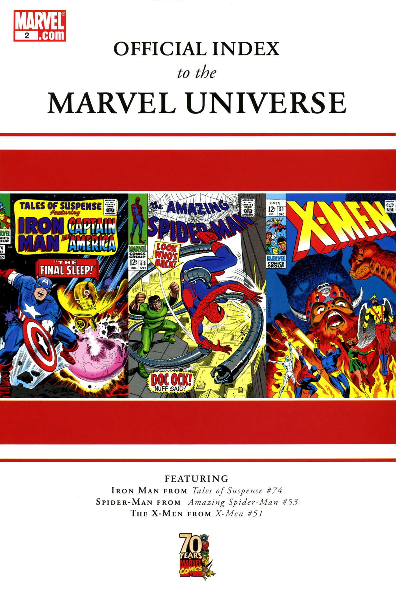 Read online Official Index to the Marvel Universe comic -  Issue #2 - 1