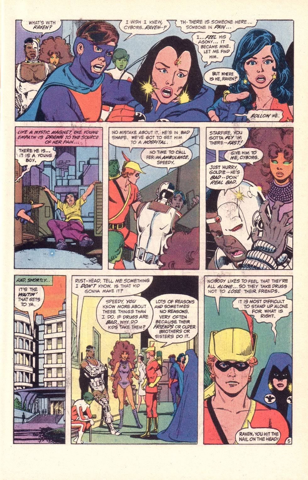 Read online The New Teen Titans (Drug Awareness Specials) comic -  Issue #2 - 7