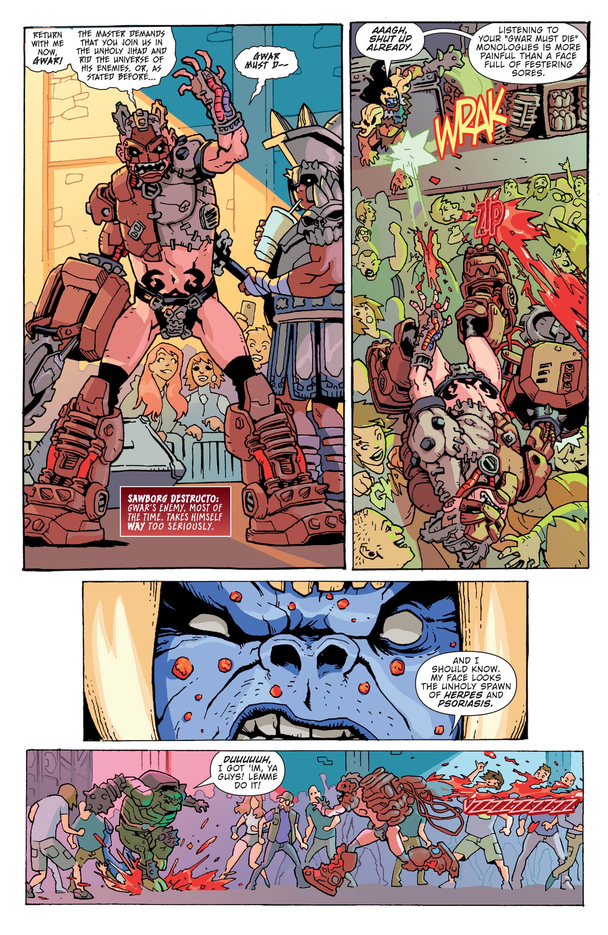 Read online Gwar: Orgasmageddon comic -  Issue #1 - 5