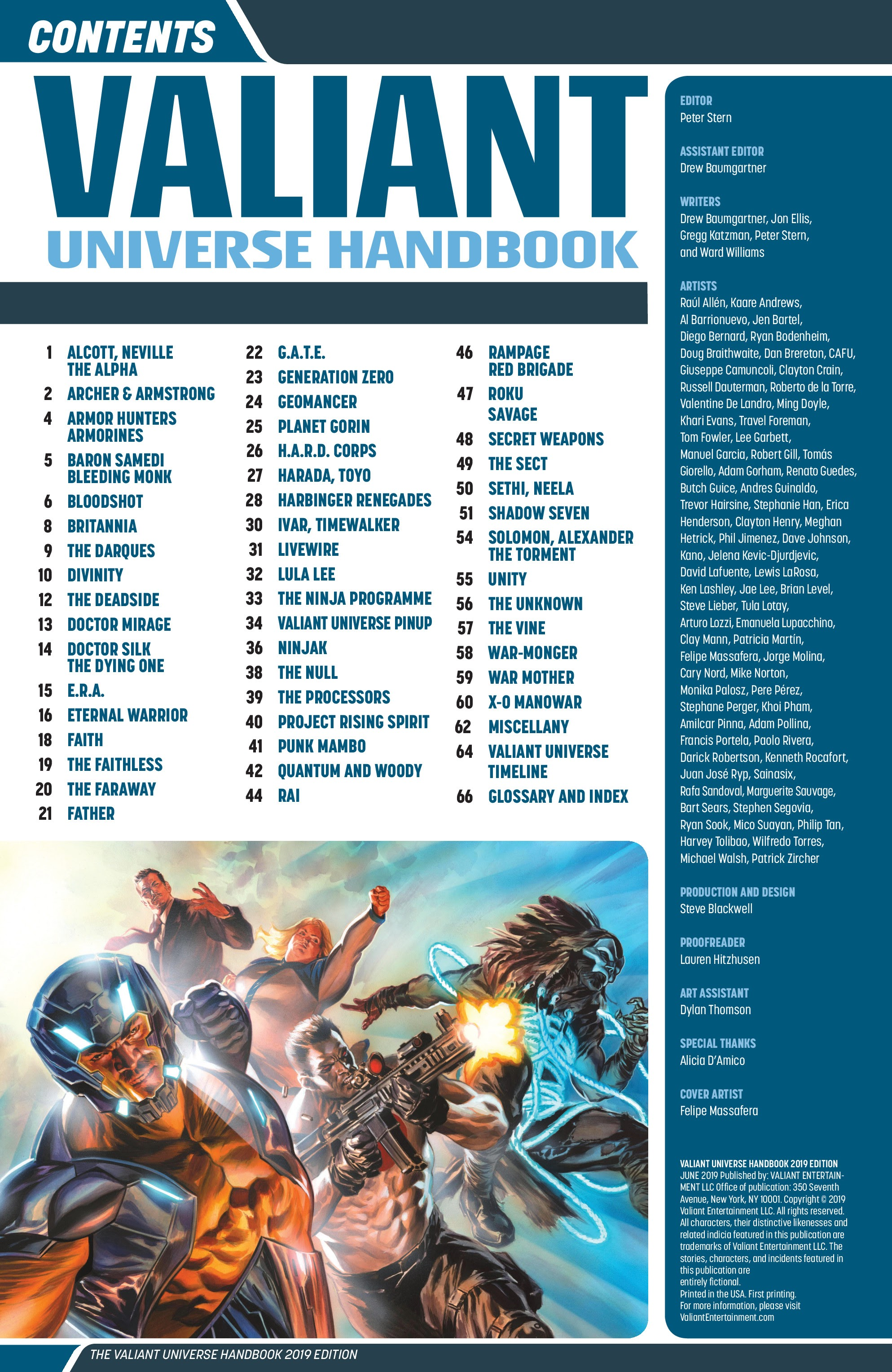 Valiant Universe Handbook 2019 Edition Full | Viewcomic