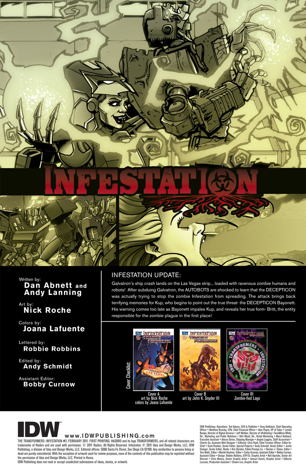 Read online Transformers: Infestation comic -  Issue #2 - 4