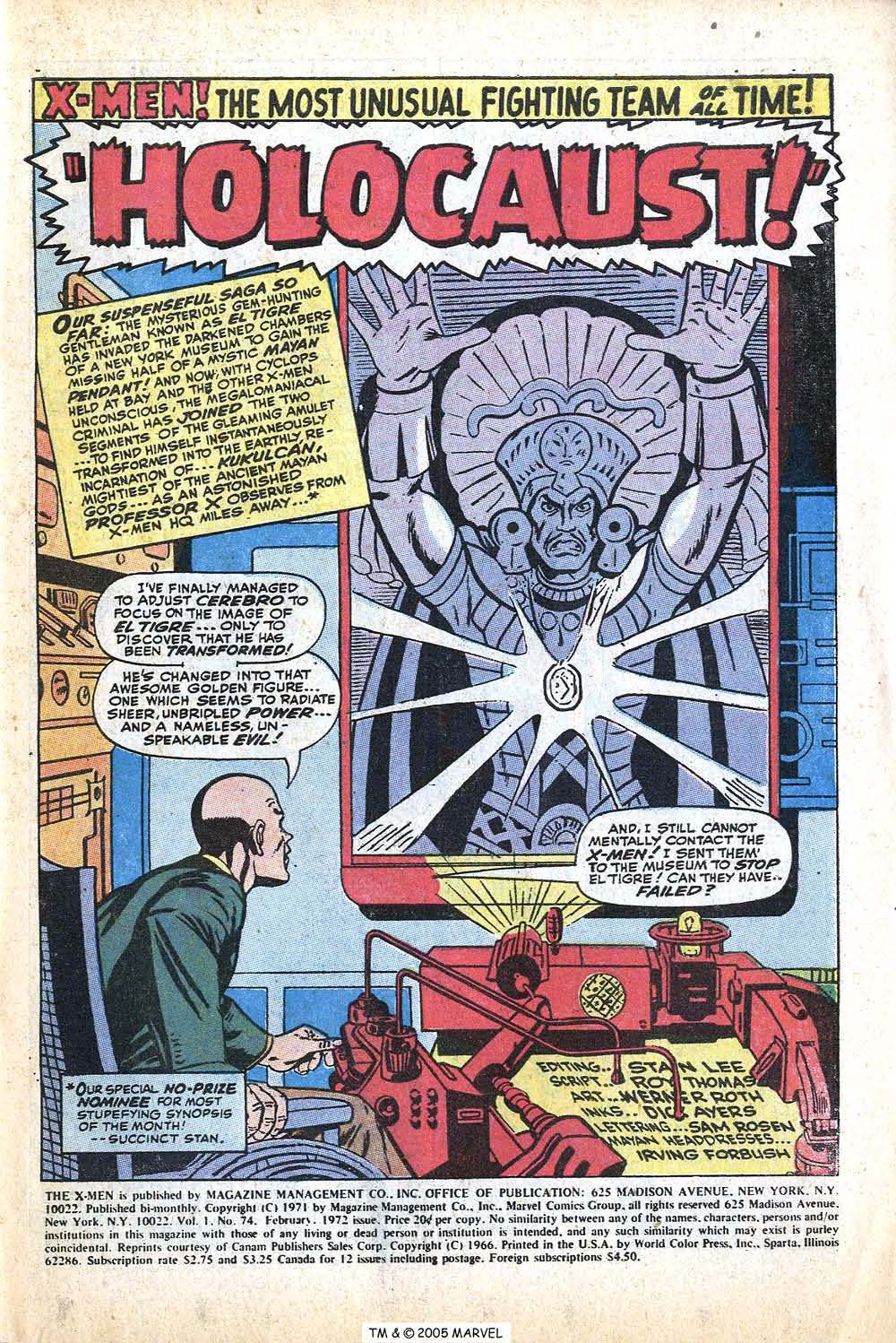 Read online Uncanny X-Men (1963) comic -  Issue #74 - 3