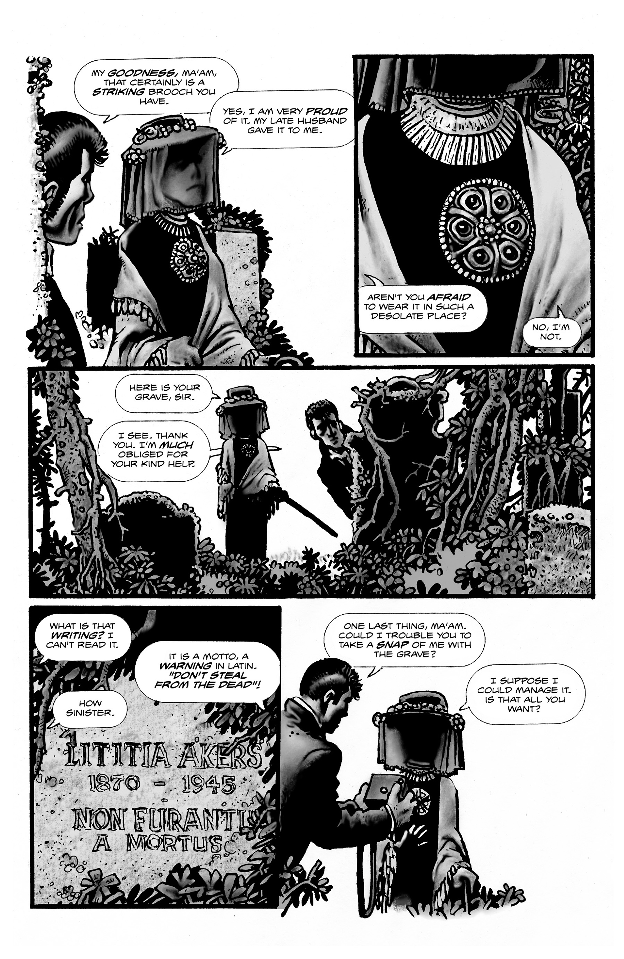 Read online Shadows on the Grave comic -  Issue #2 - 22