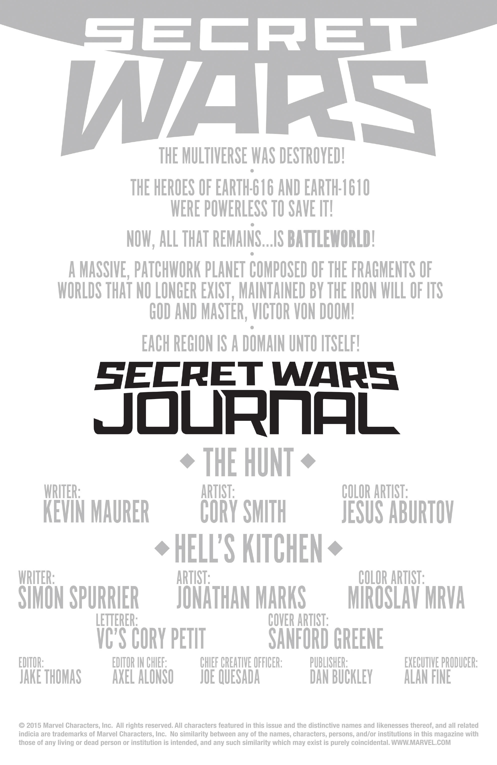 Read online Secret Wars Journal comic -  Issue #2 - 2