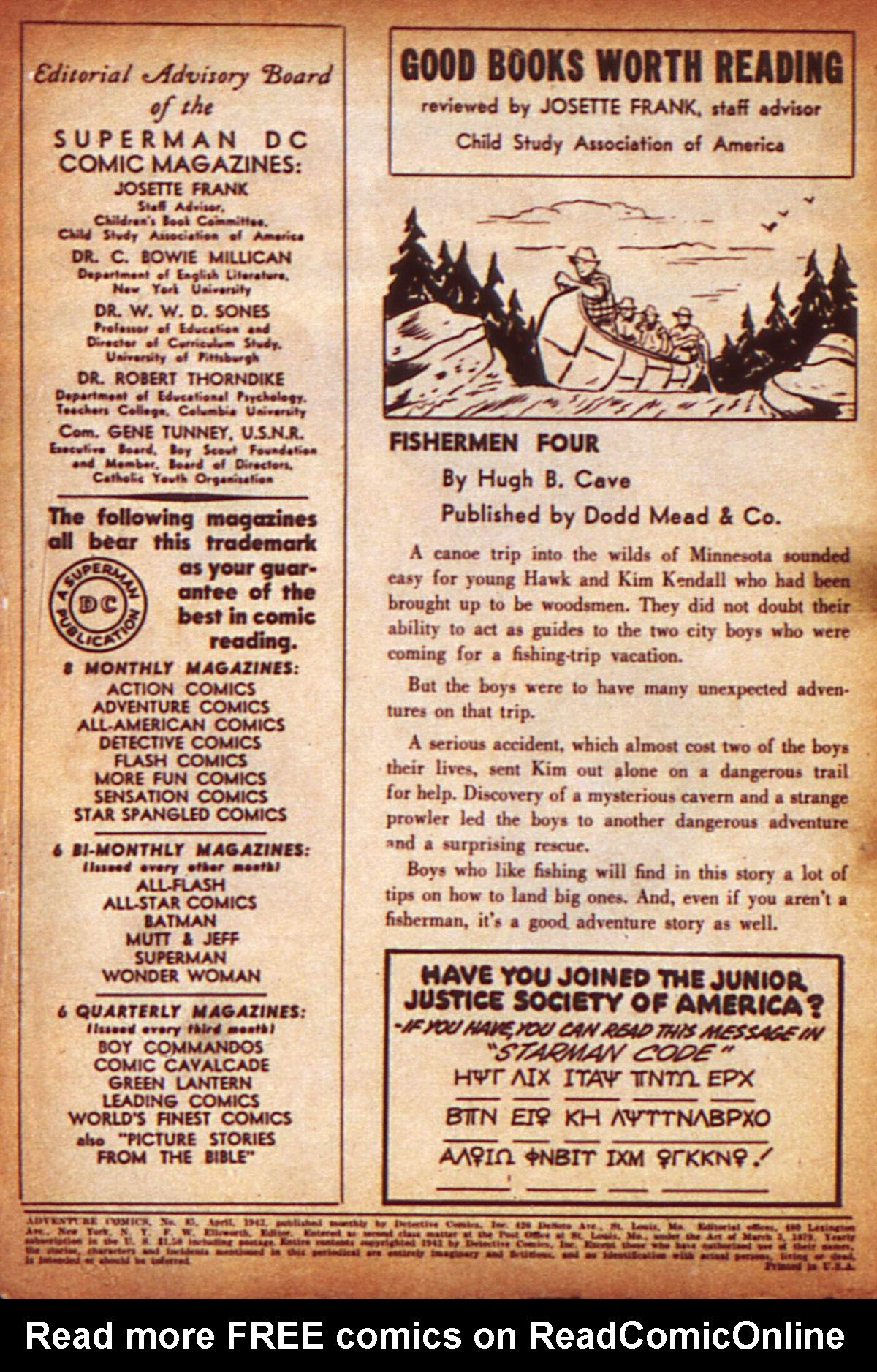 Read online Adventure Comics (1938) comic -  Issue #85 - 2