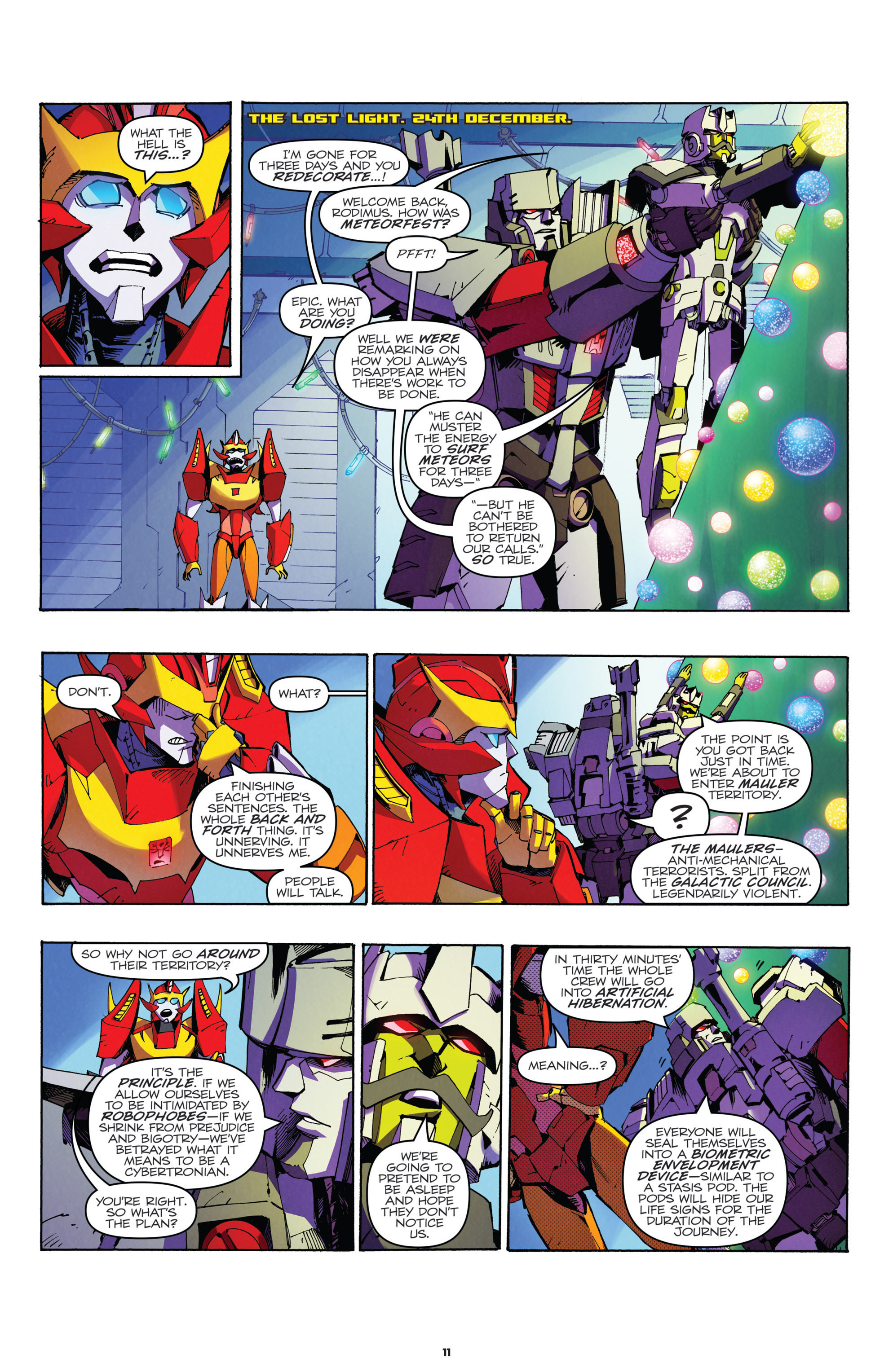Read online Transformers: Holiday Special comic -  Issue # Full - 13