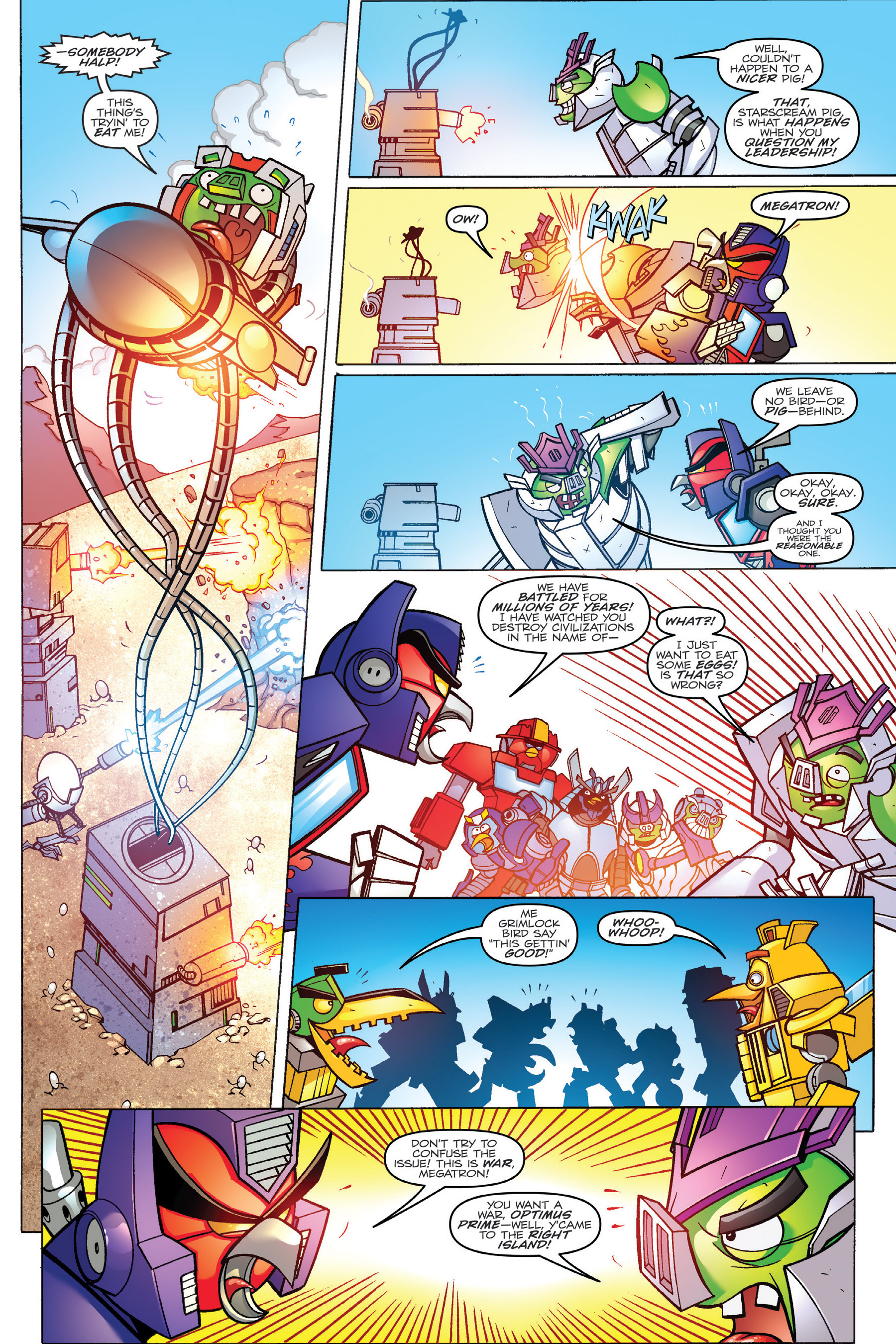 Read online Angry Birds Transformers: Age of Eggstinction comic -  Issue # Full - 53