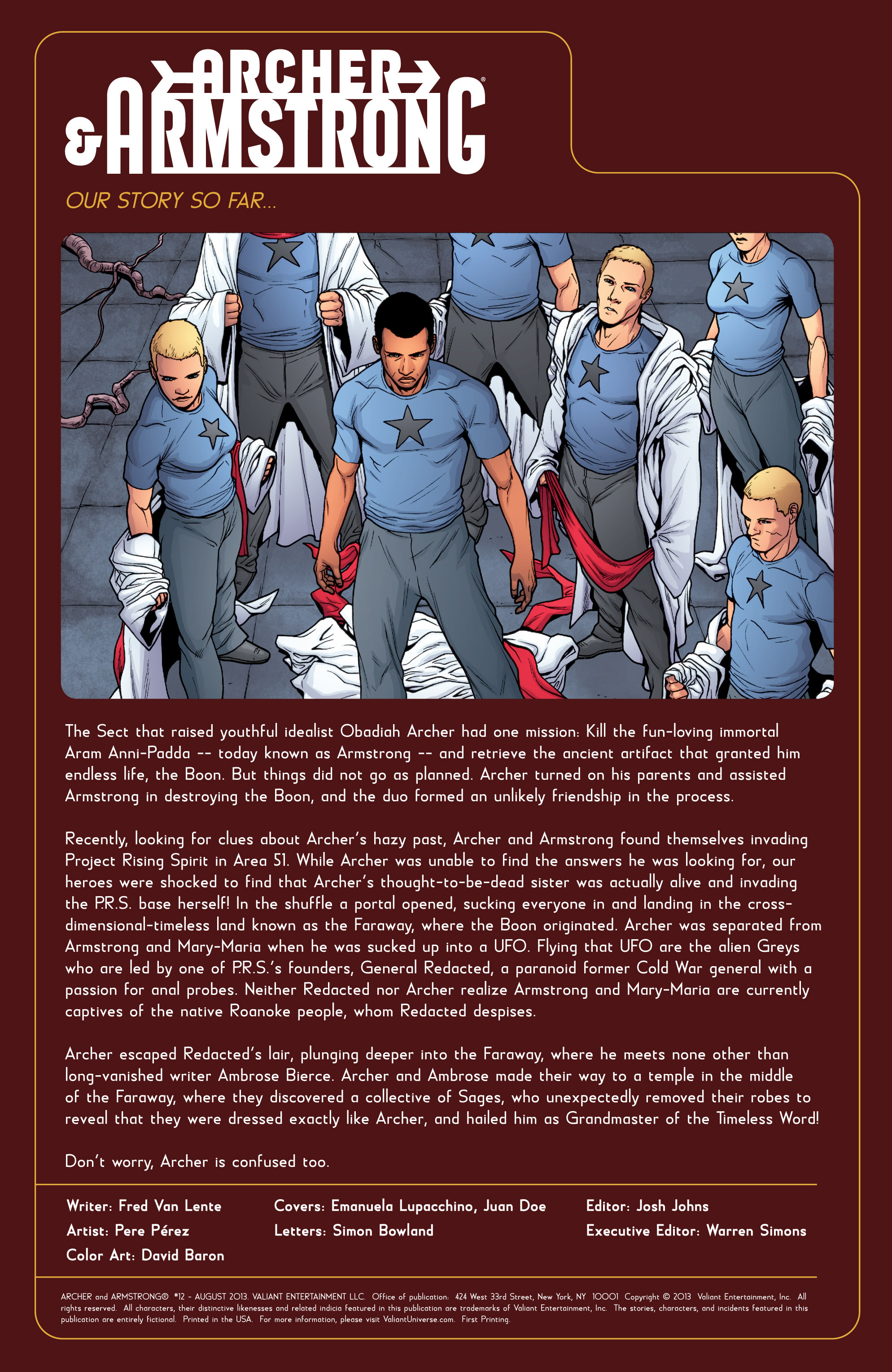 Read online Archer and Armstrong comic -  Issue #12 - 2