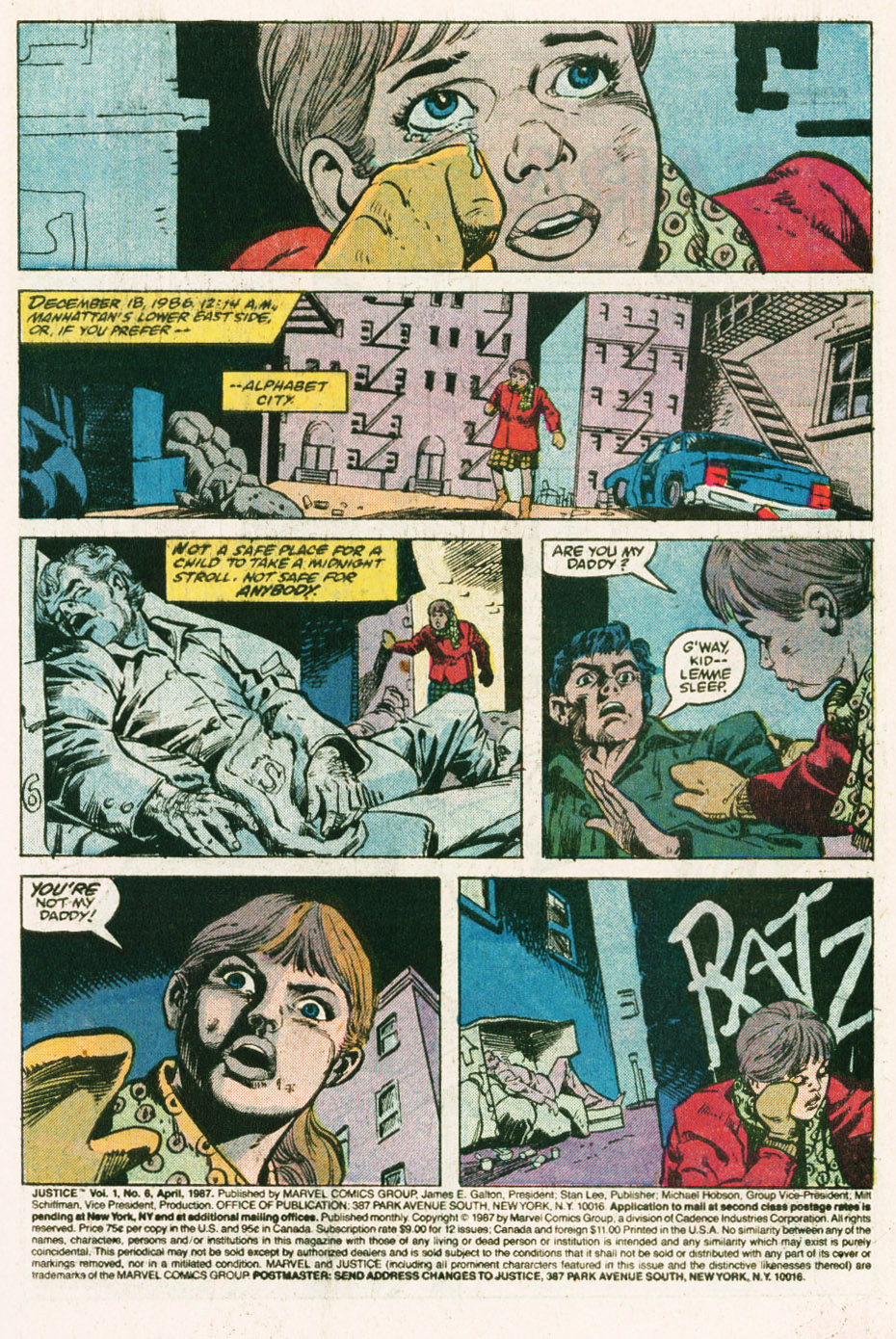 Read online Justice (1986) comic -  Issue #6 - 2