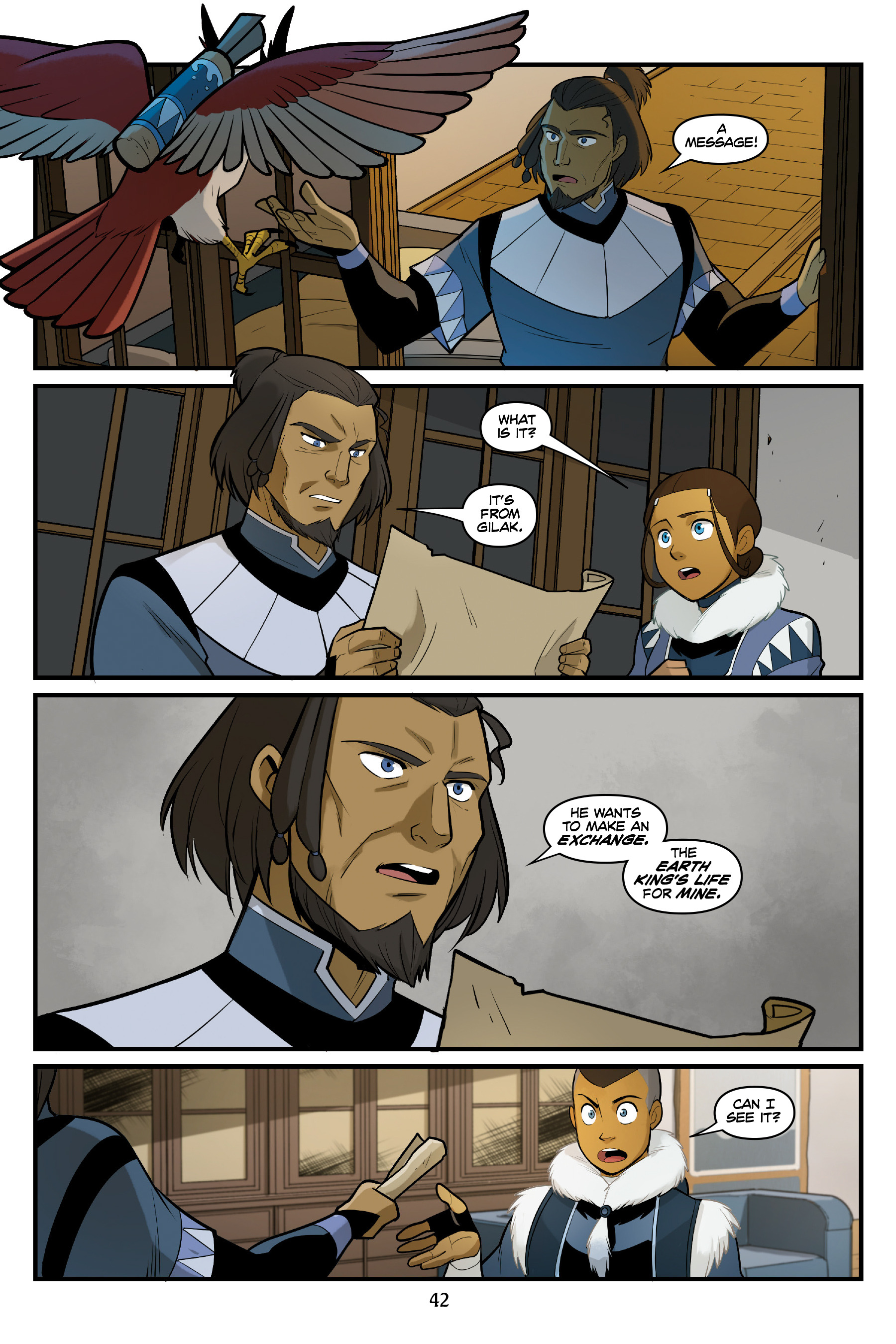 Read online Nickelodeon Avatar: The Last Airbender - North and South comic -  Issue #3 - 42