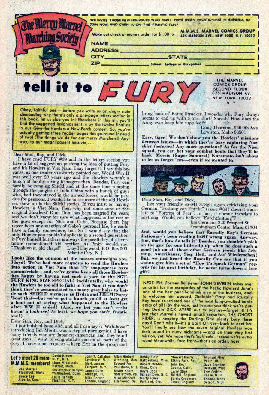 Read online Sgt. Fury comic -  Issue #43 - 30