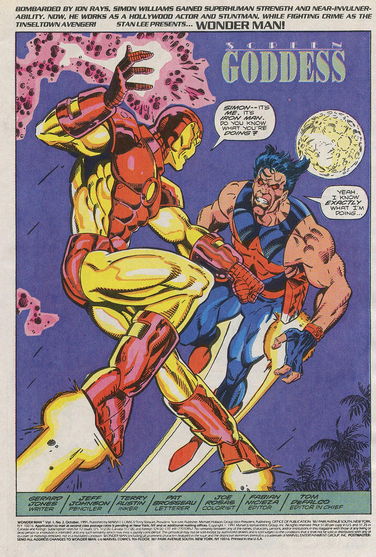 Read online Wonder Man (1991) comic -  Issue #2 - 2