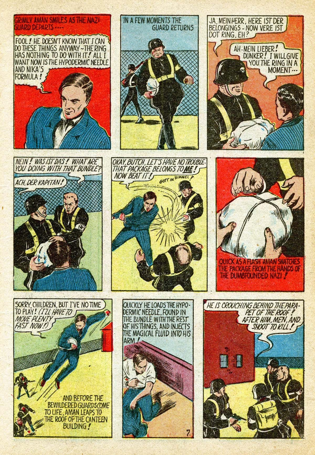 Read online Amazing Man Comics comic -  Issue #8 - 9