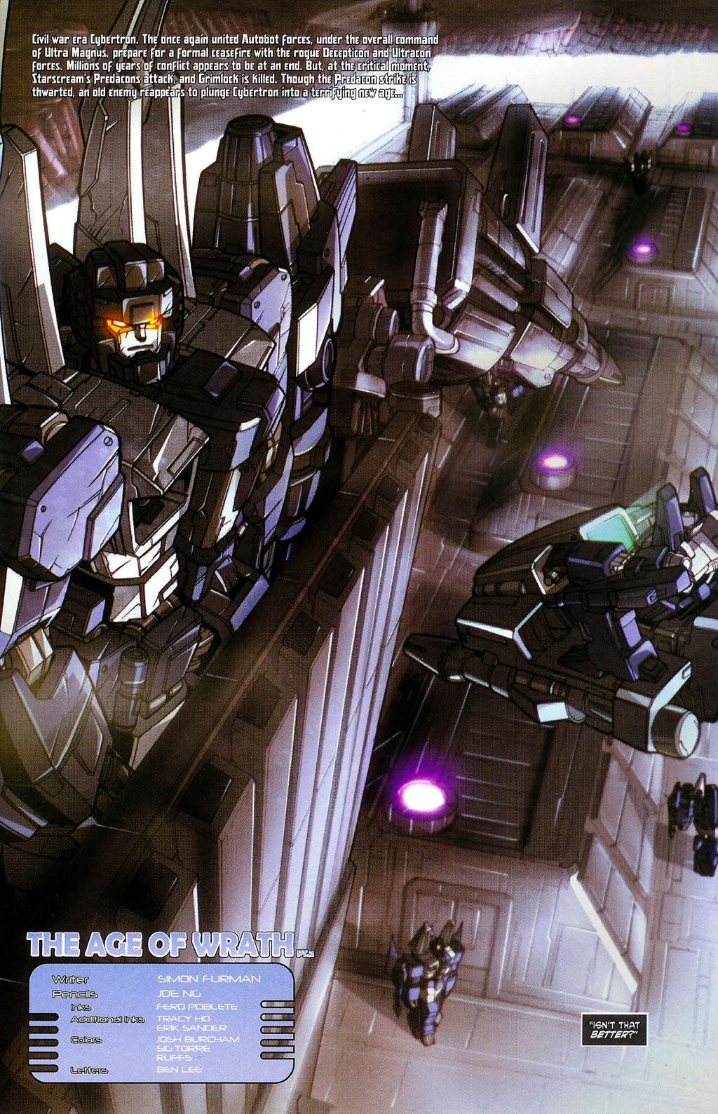 """Read online Transformers War Within: """"The Age of Wrath"""" comic -  Issue #2 - 2"""