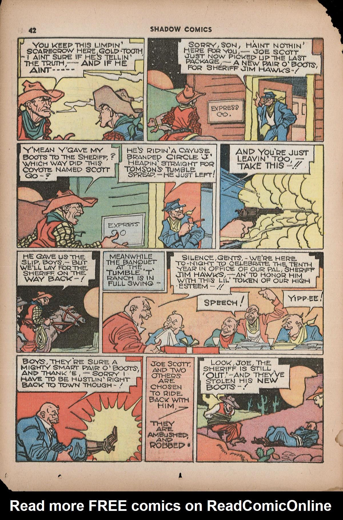 Read online Shadow Comics comic -  Issue #2 - 45