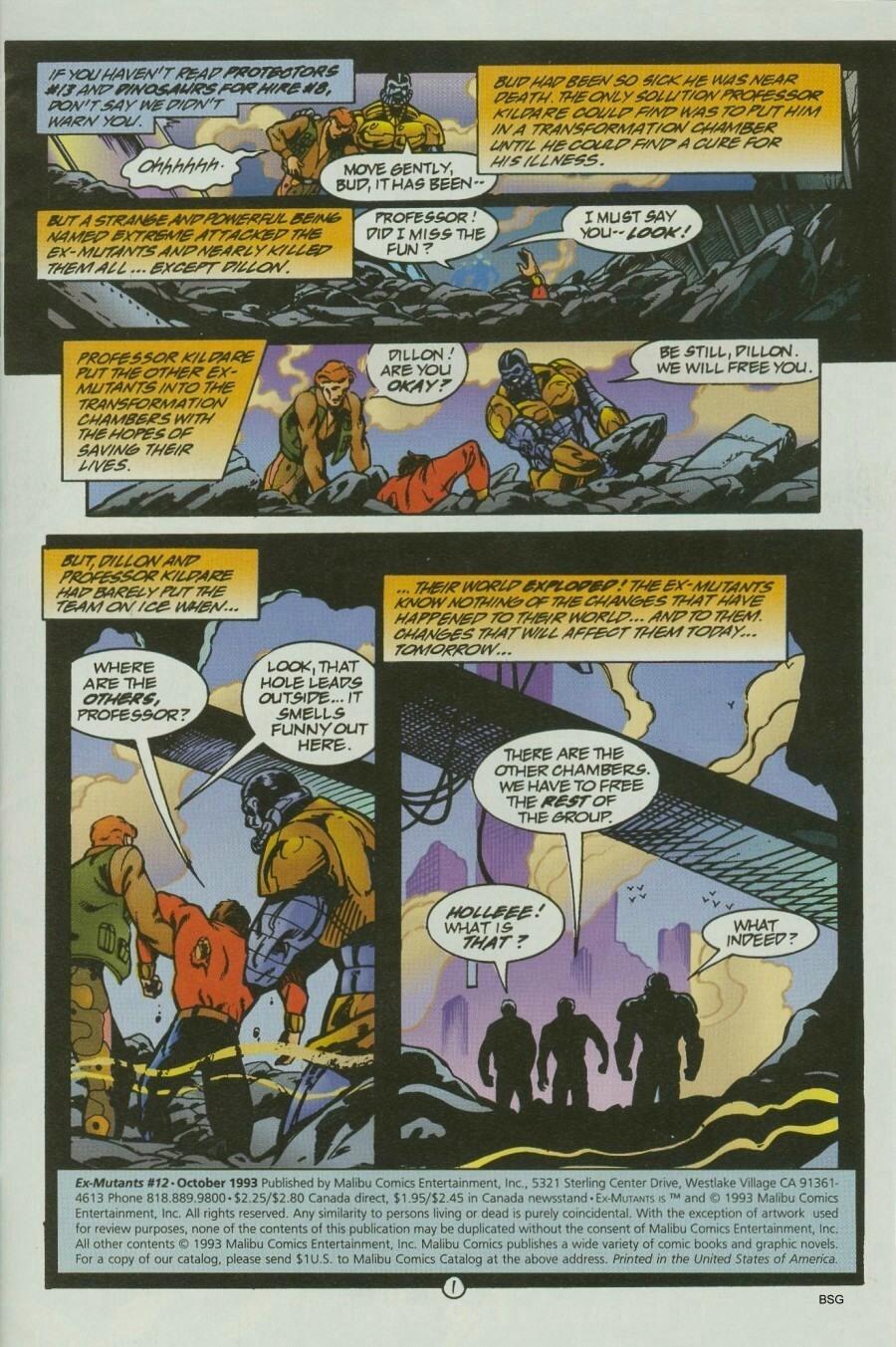 Read online Ex-Mutants comic -  Issue #12 - 3