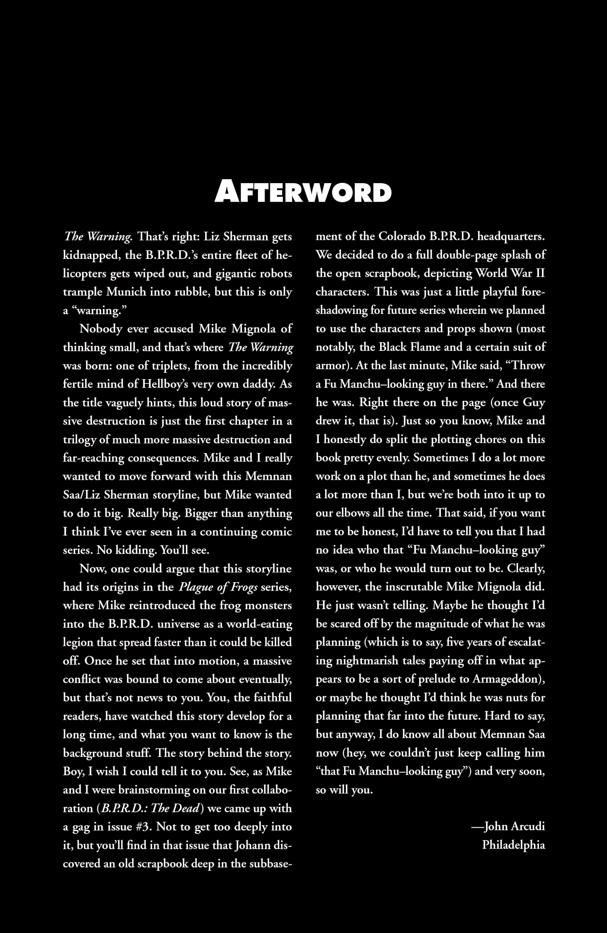 Read online B.P.R.D. (2003) comic -  Issue # TPB 10 - 138