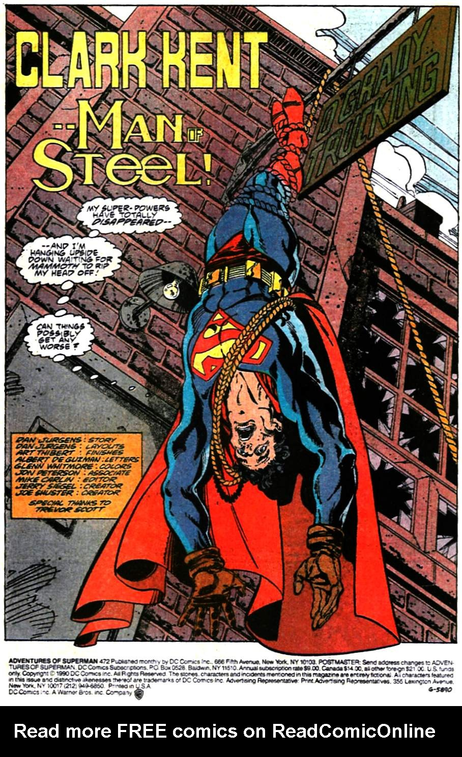 Read online Adventures of Superman (1987) comic -  Issue #472 - 2