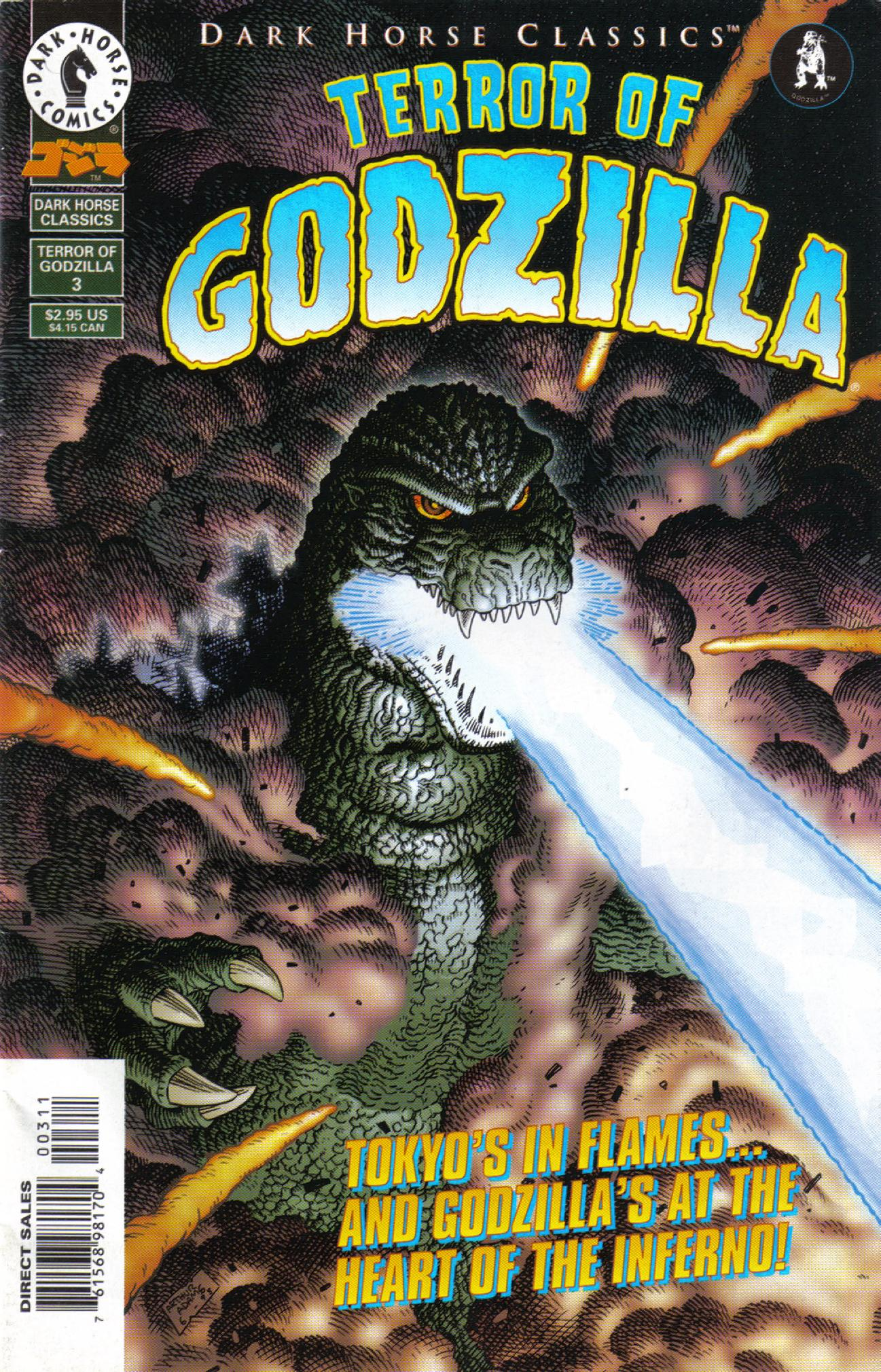 Read online Dark Horse Classics: Terror of Godzilla comic -  Issue #3 - 1