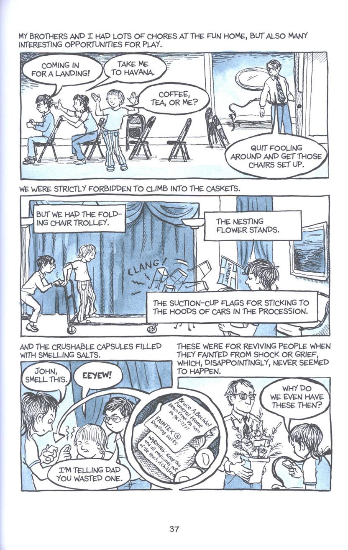 Read online Fun Home: A Family Tragicomic comic -  Issue # TPB - 44