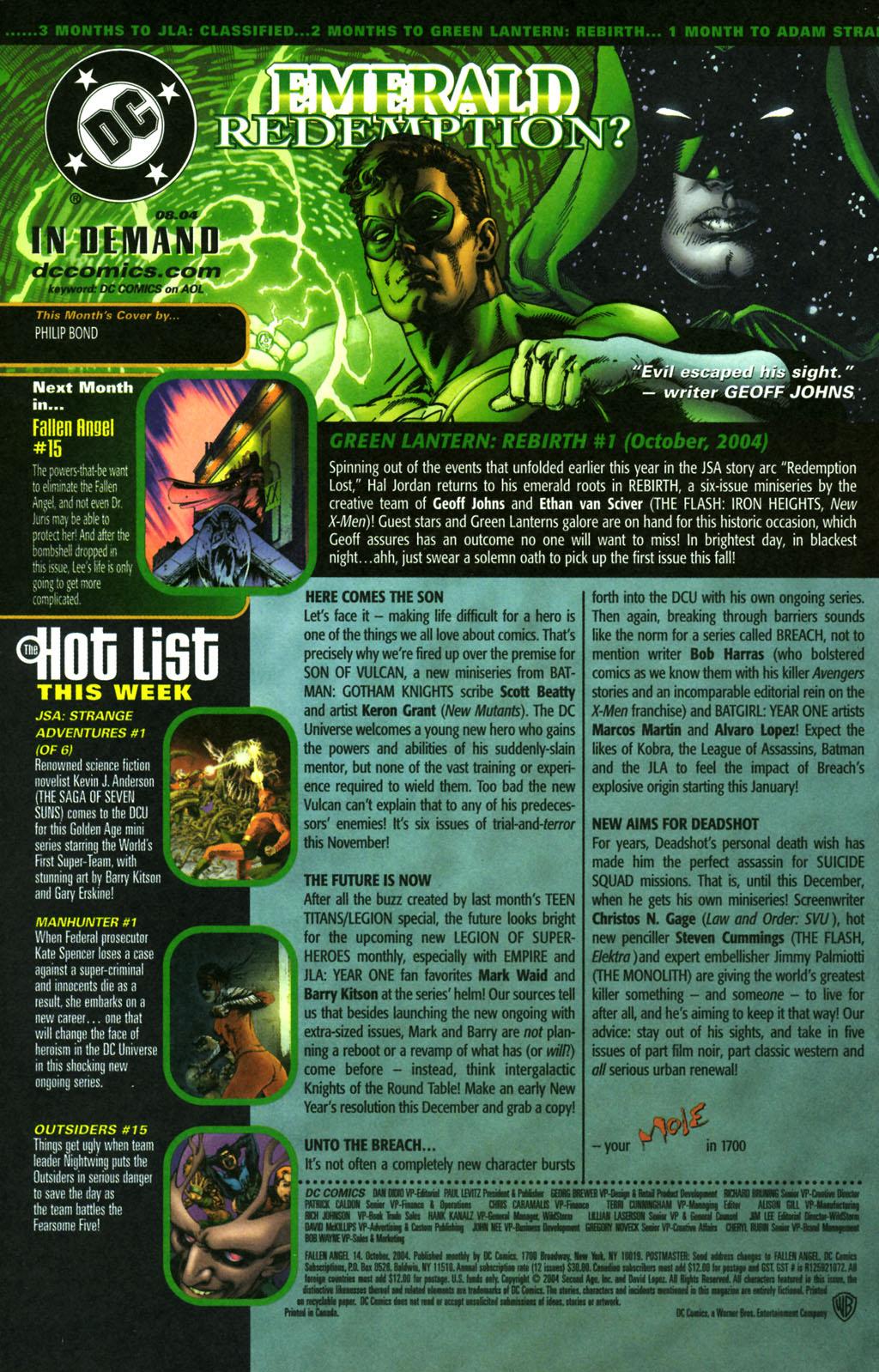 Read online Fallen Angel (2003) comic -  Issue #14 - 24