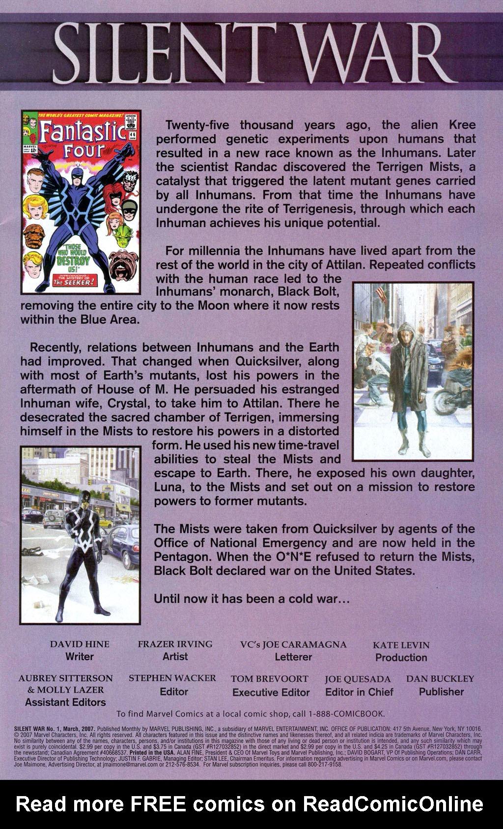 Read online Silent War comic -  Issue #1 - 2