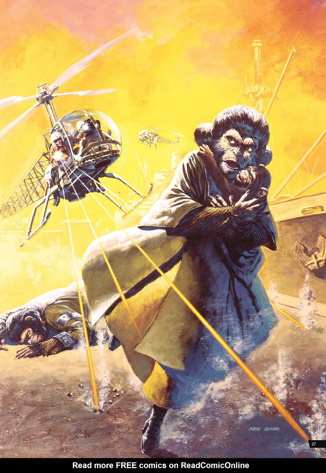 Read online Planet of the Apes Artist Tribute comic -  Issue # TPB - 27