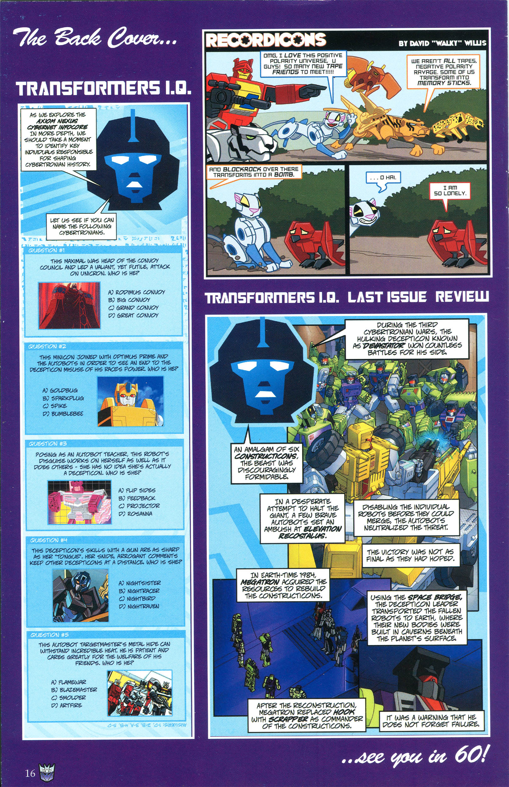Read online Transformers: Collectors' Club comic -  Issue #45 - 16