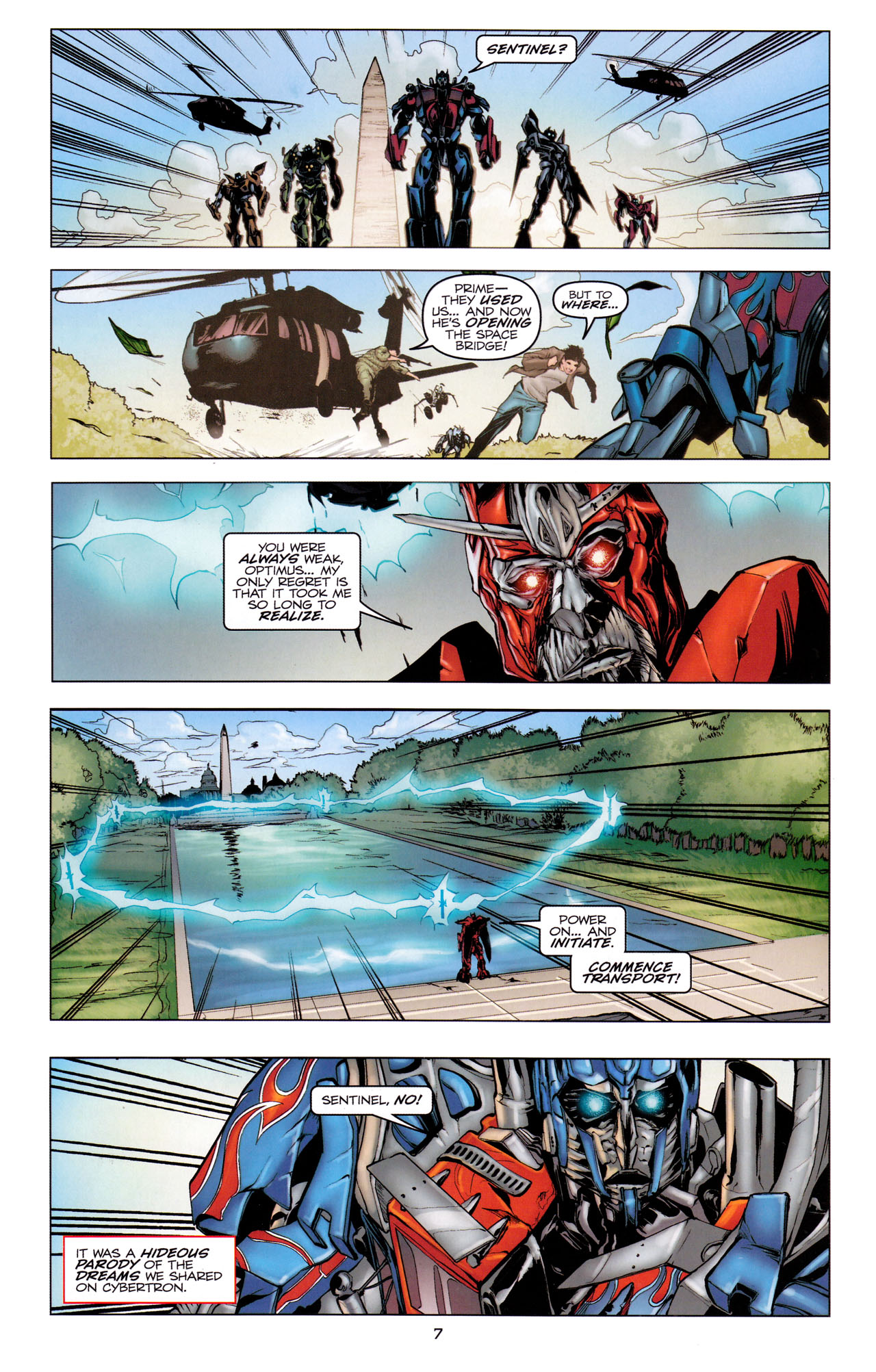 Read online Transformers: Dark of the Moon Movie Adaptation comic -  Issue #3 - 9
