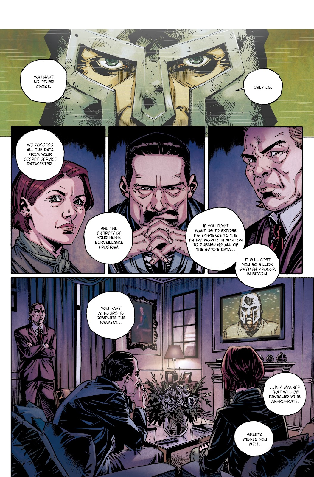 Read online Millennium: The Girl Who Danced With Death comic -  Issue #3 - 4