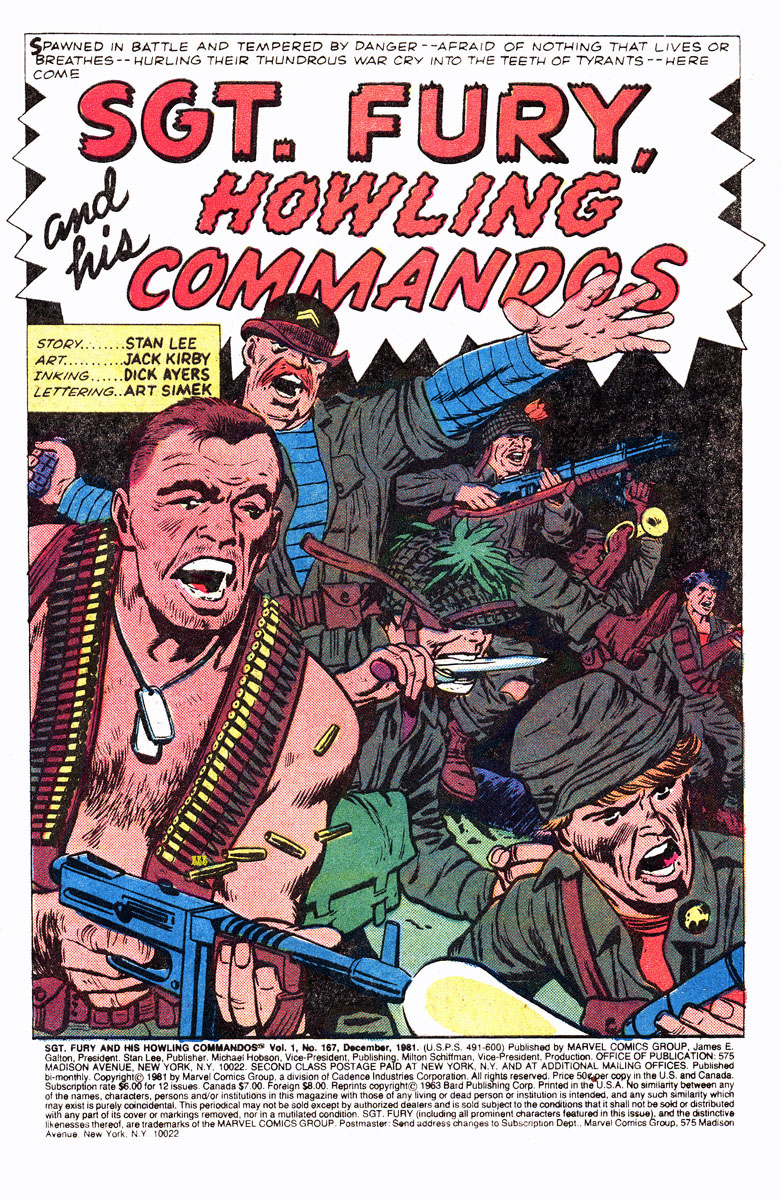 Read online Sgt. Fury comic -  Issue #167 - 3