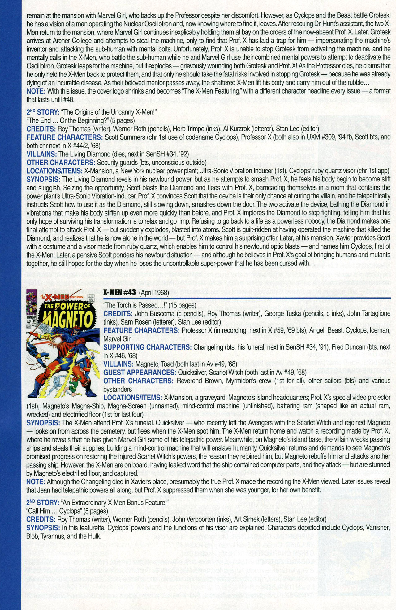 Read online Official Index to the Marvel Universe comic -  Issue #1 - 62