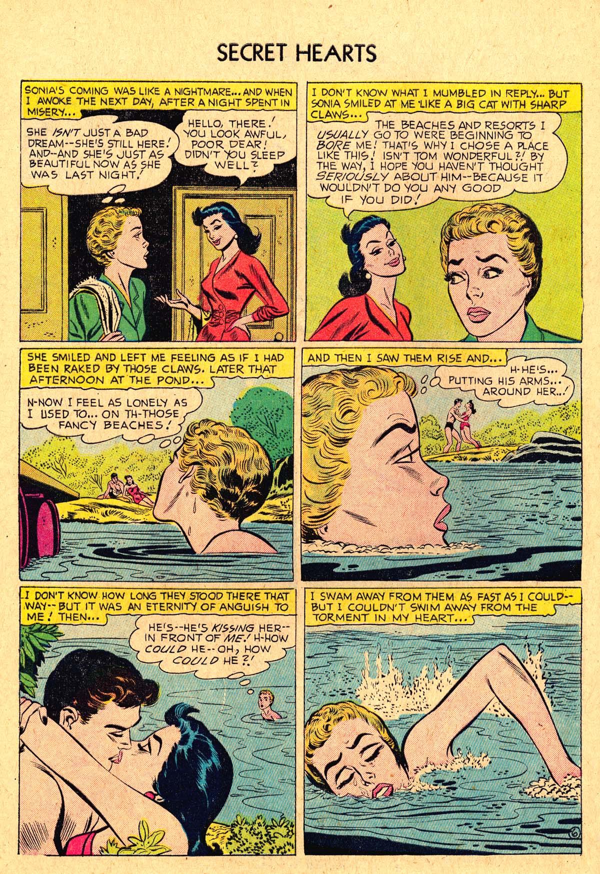 Read online Secret Hearts comic -  Issue #36 - 32