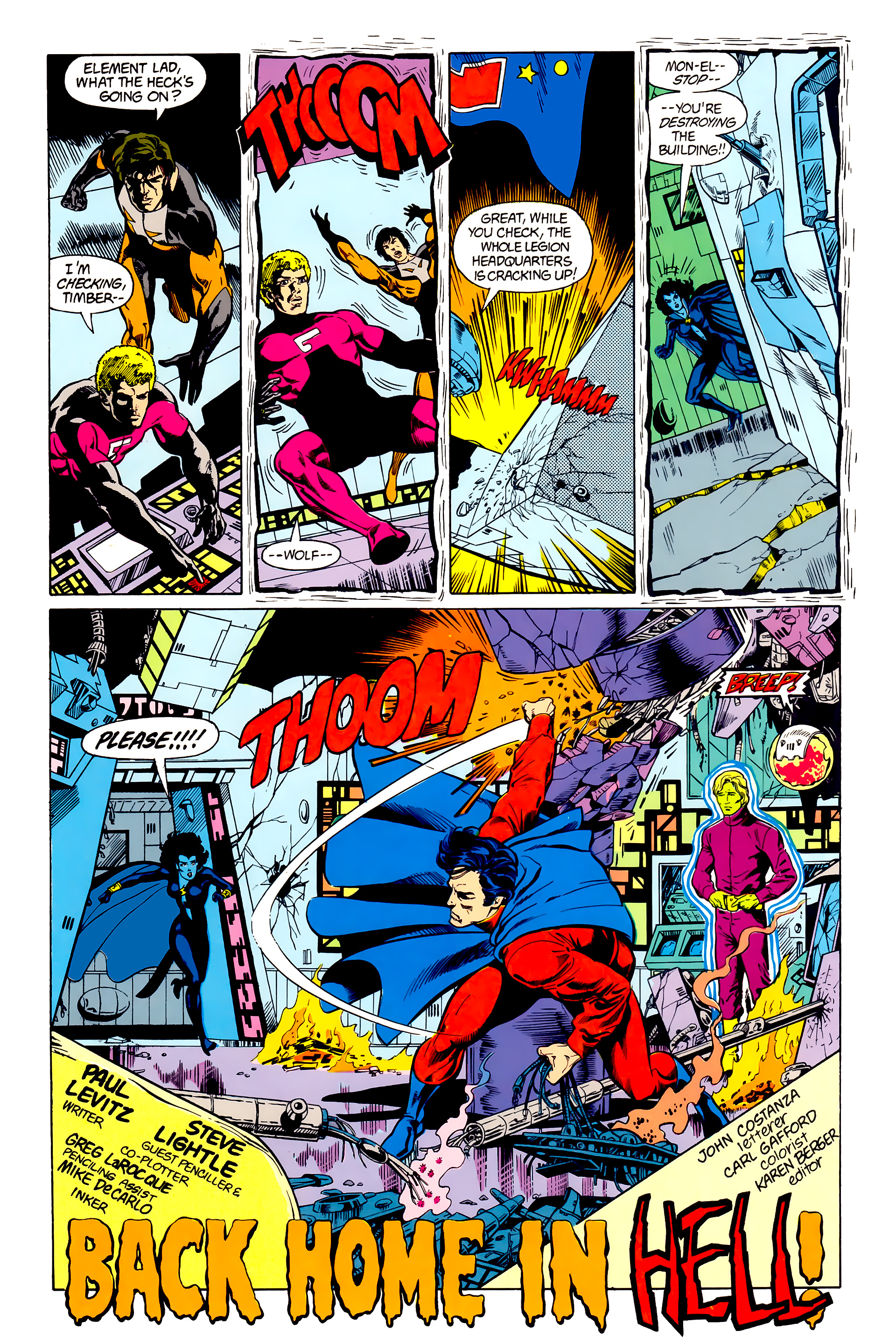 Legion of Super-Heroes (1984) 23 Page 3