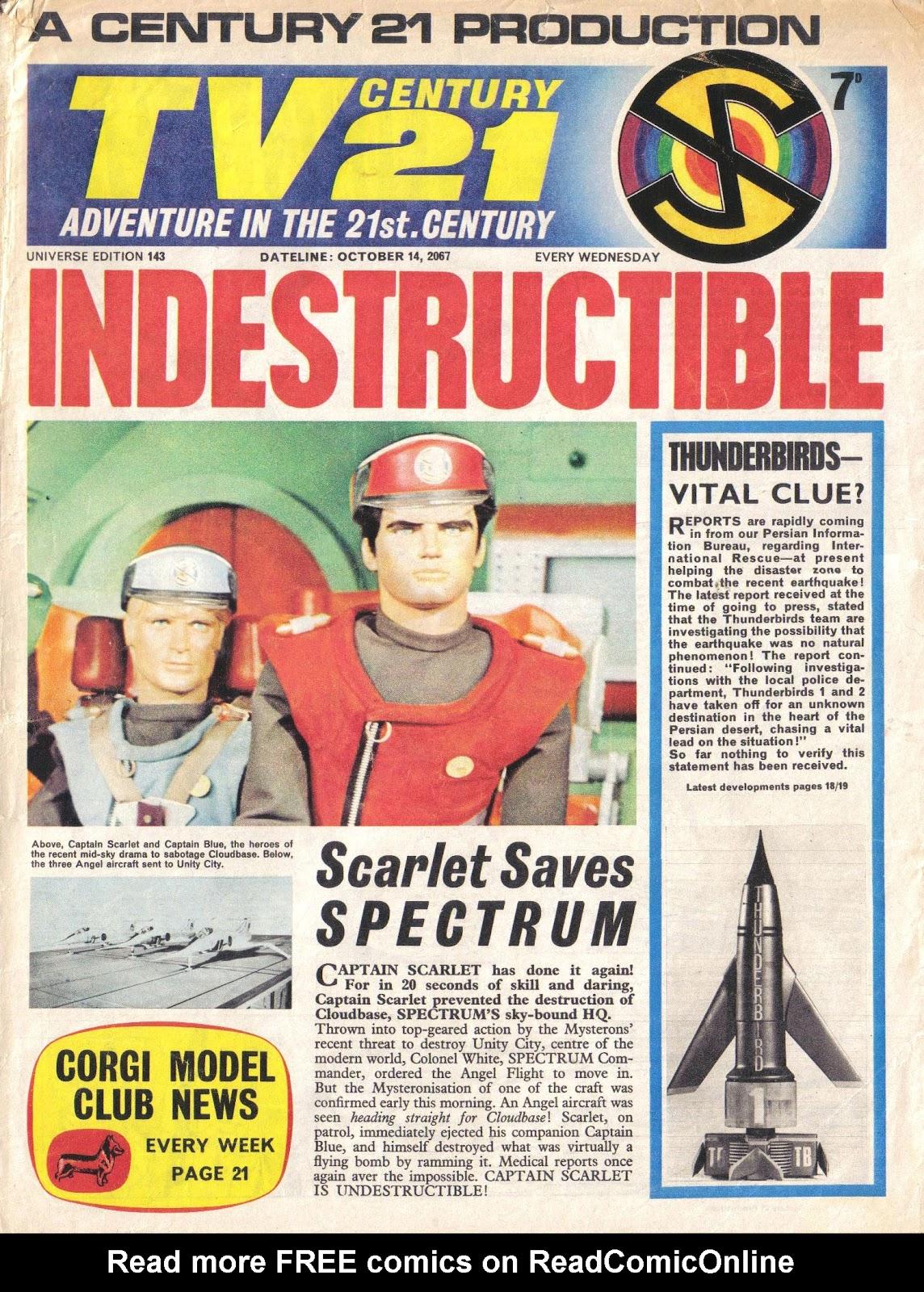 TV Century 21 (TV 21) issue 143 - Page 1
