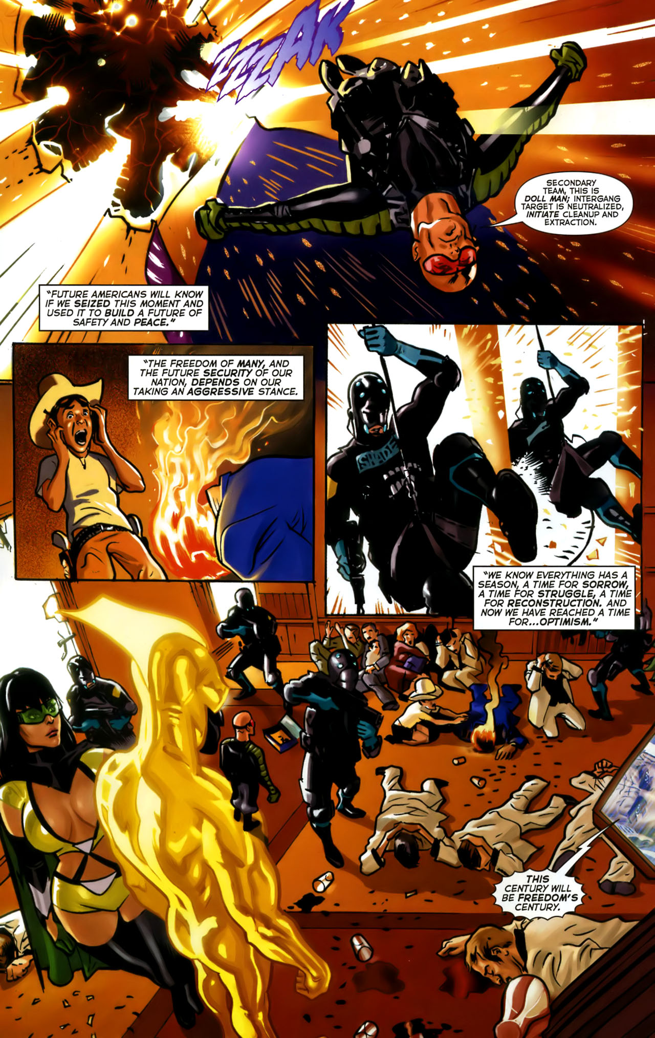 Read online Uncle Sam and the Freedom Fighters (2006) comic -  Issue #1 - 5