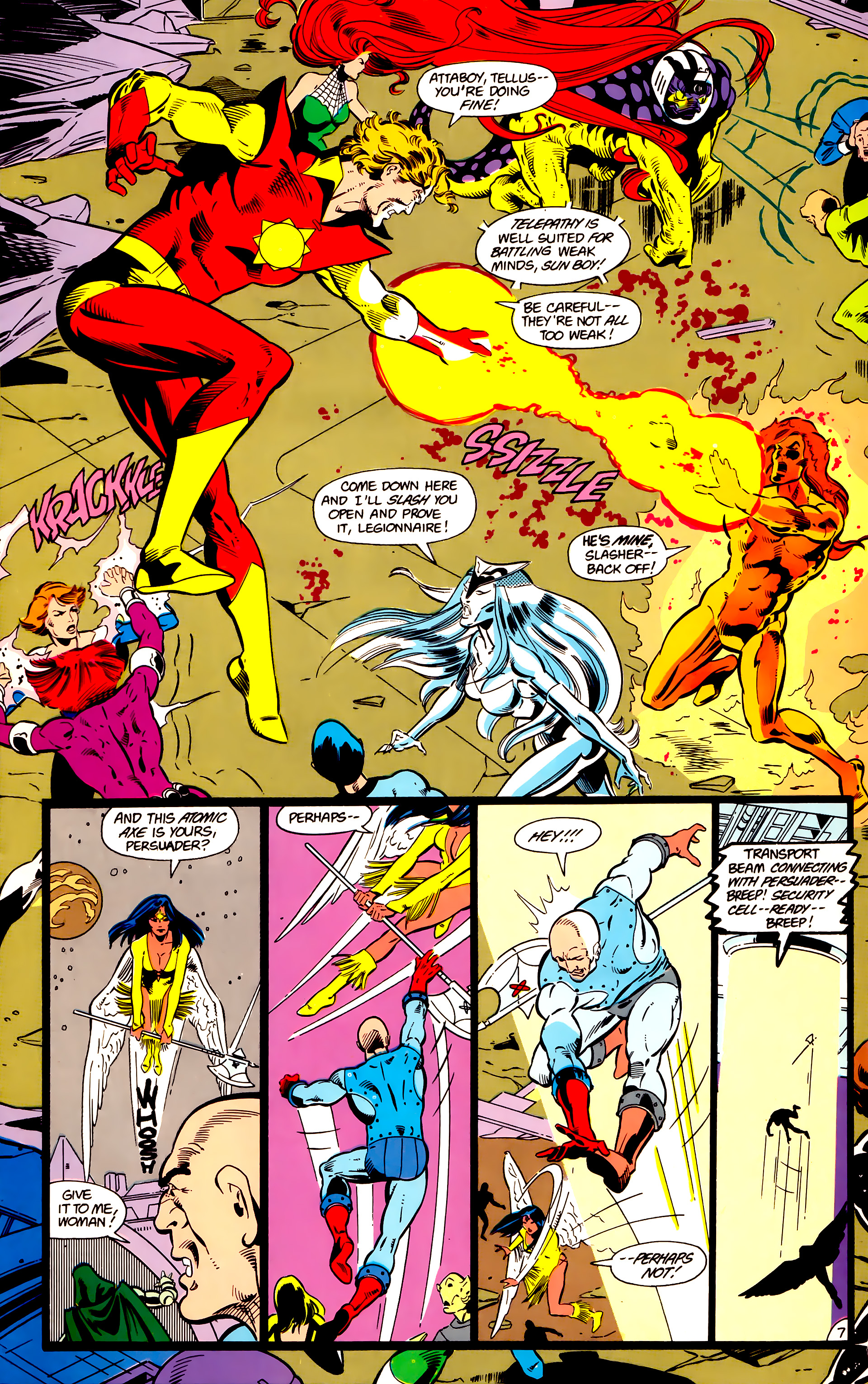 Legion of Super-Heroes (1984) 18 Page 7