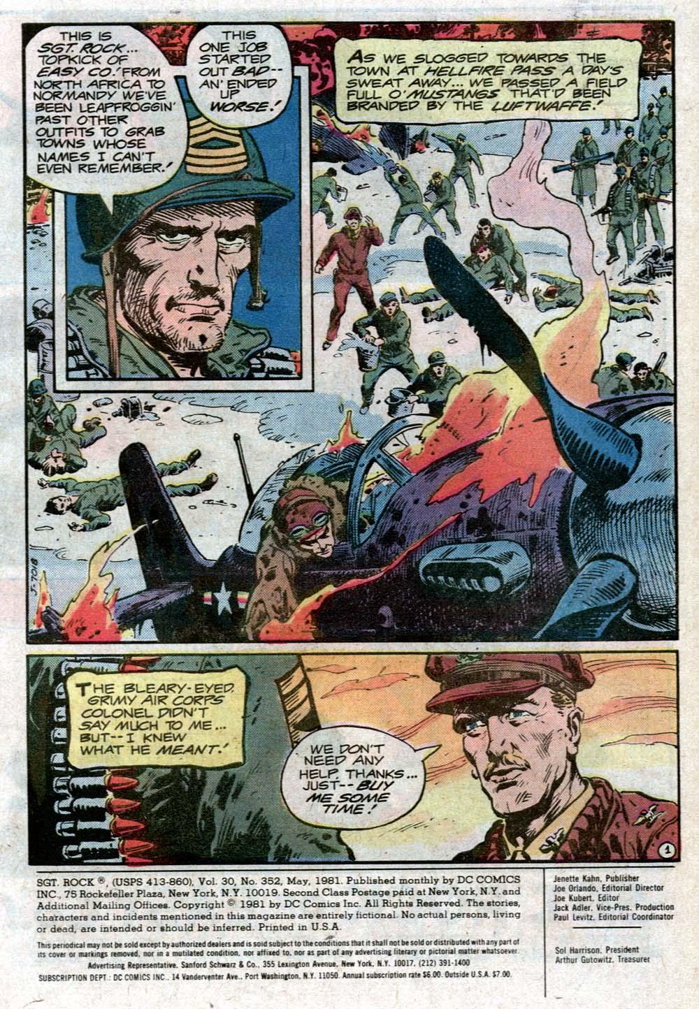 Read online Sgt. Rock comic -  Issue #352 - 2