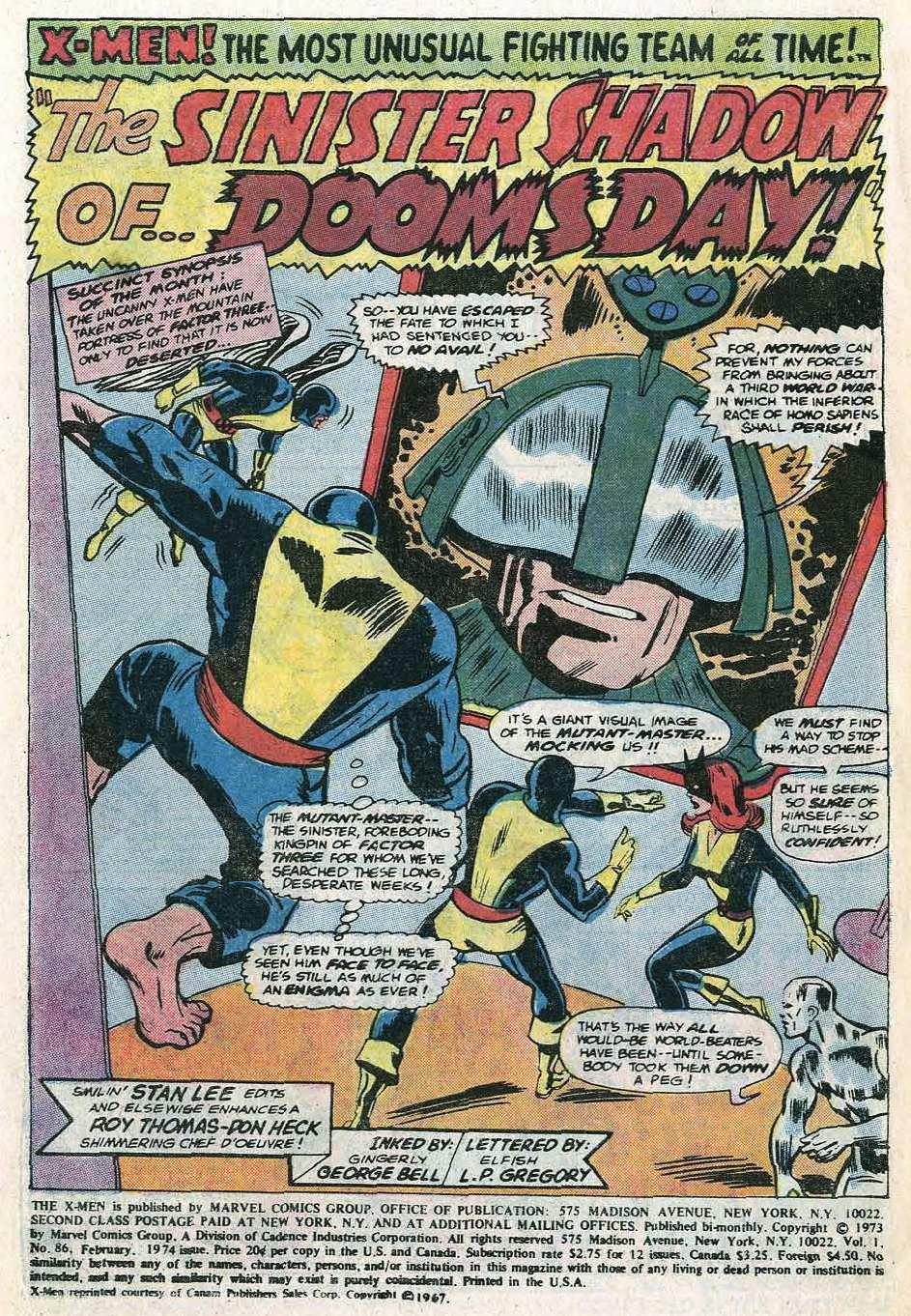 Uncanny X-Men (1963) 86 Page 2
