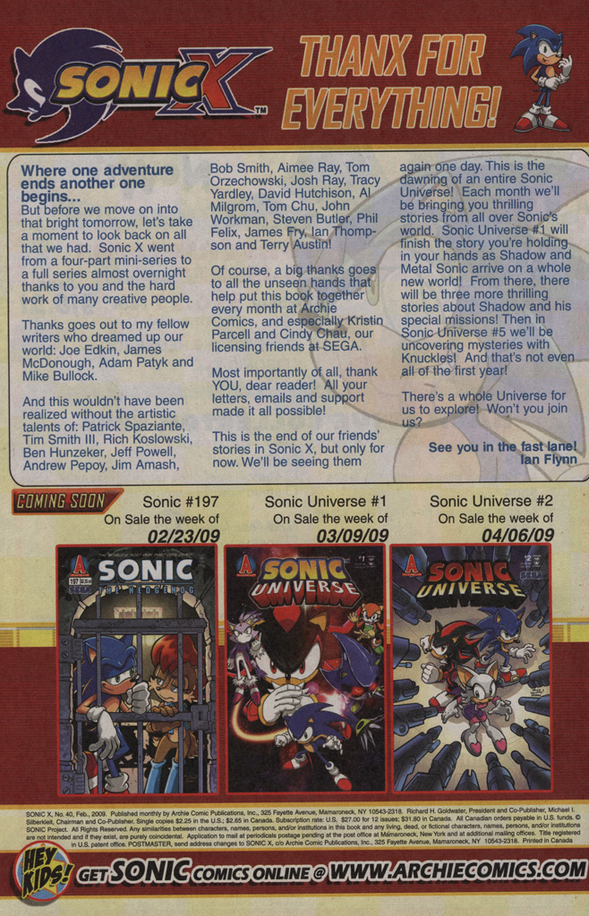 Read online Sonic X comic -  Issue #40 - 34