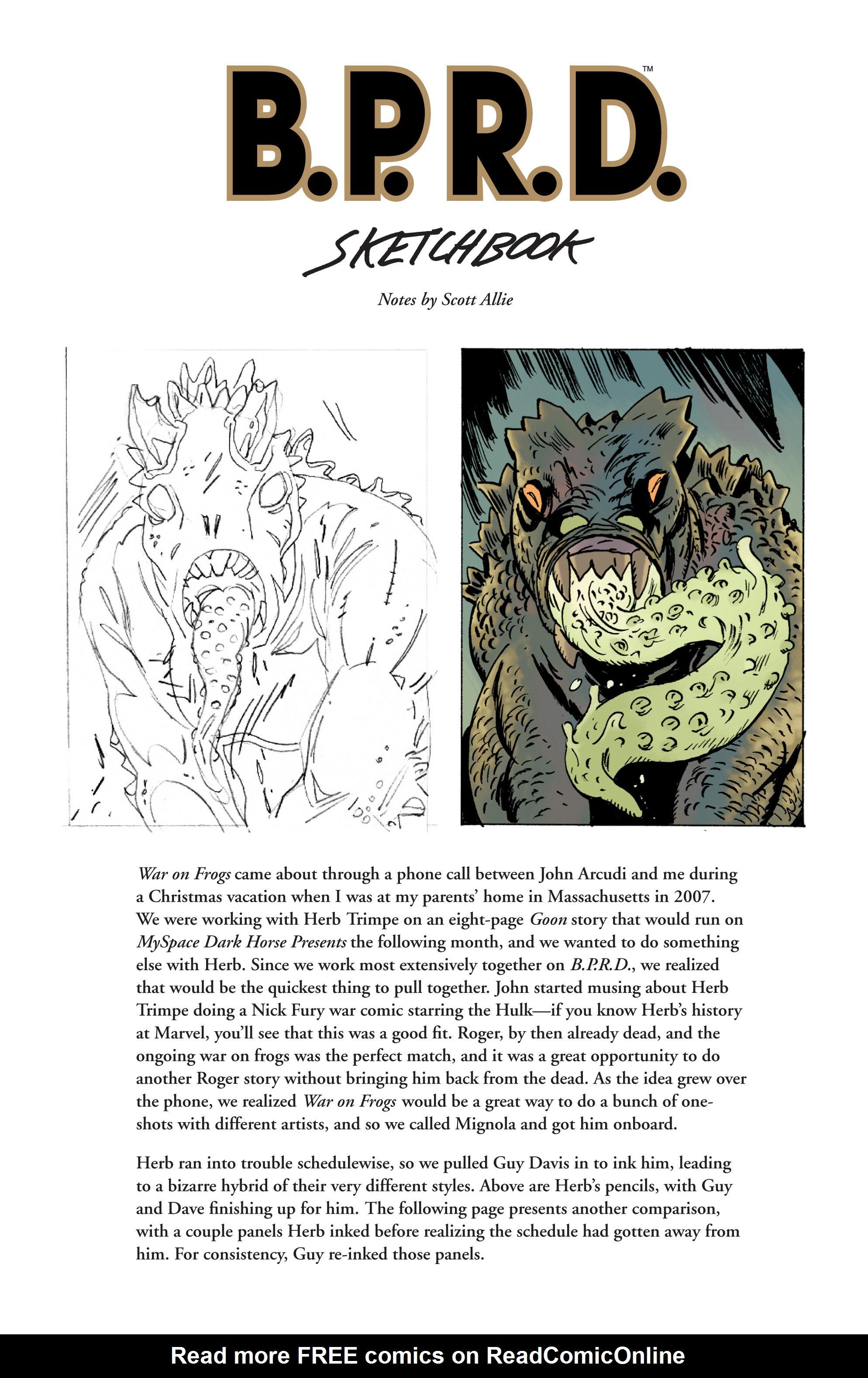 Read online B.P.R.D. (2003) comic -  Issue # TPB 12 - 129