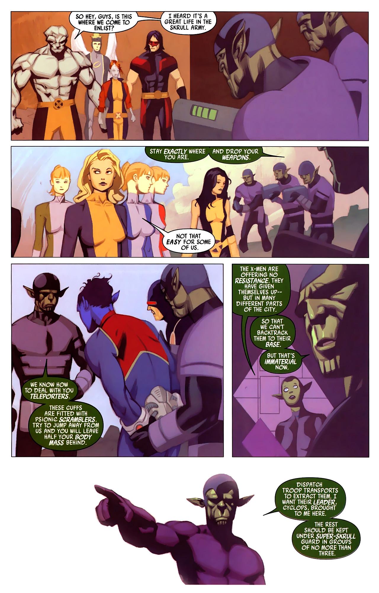 Read online Secret Invasion: X-Men comic -  Issue #4 - 11