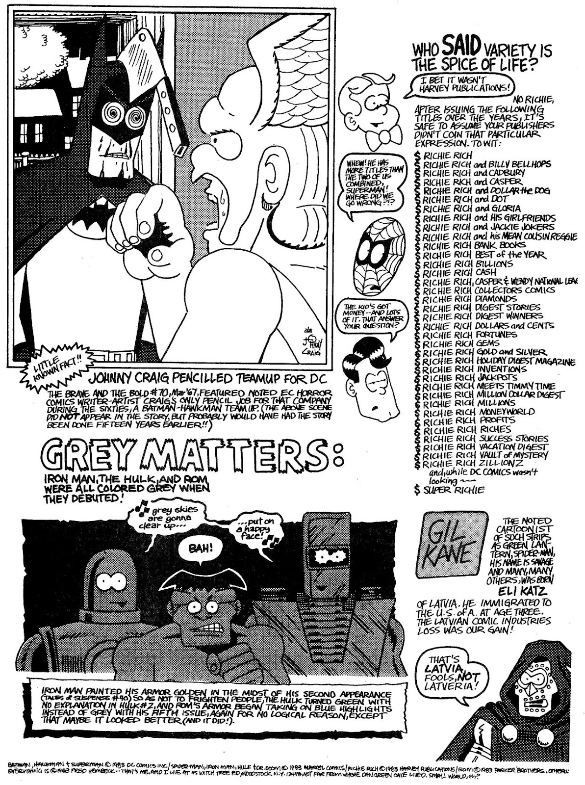Read online The Nearly Complete Essential Hembeck Archives Omnibus comic -  Issue # TPB (Part 4) - 54