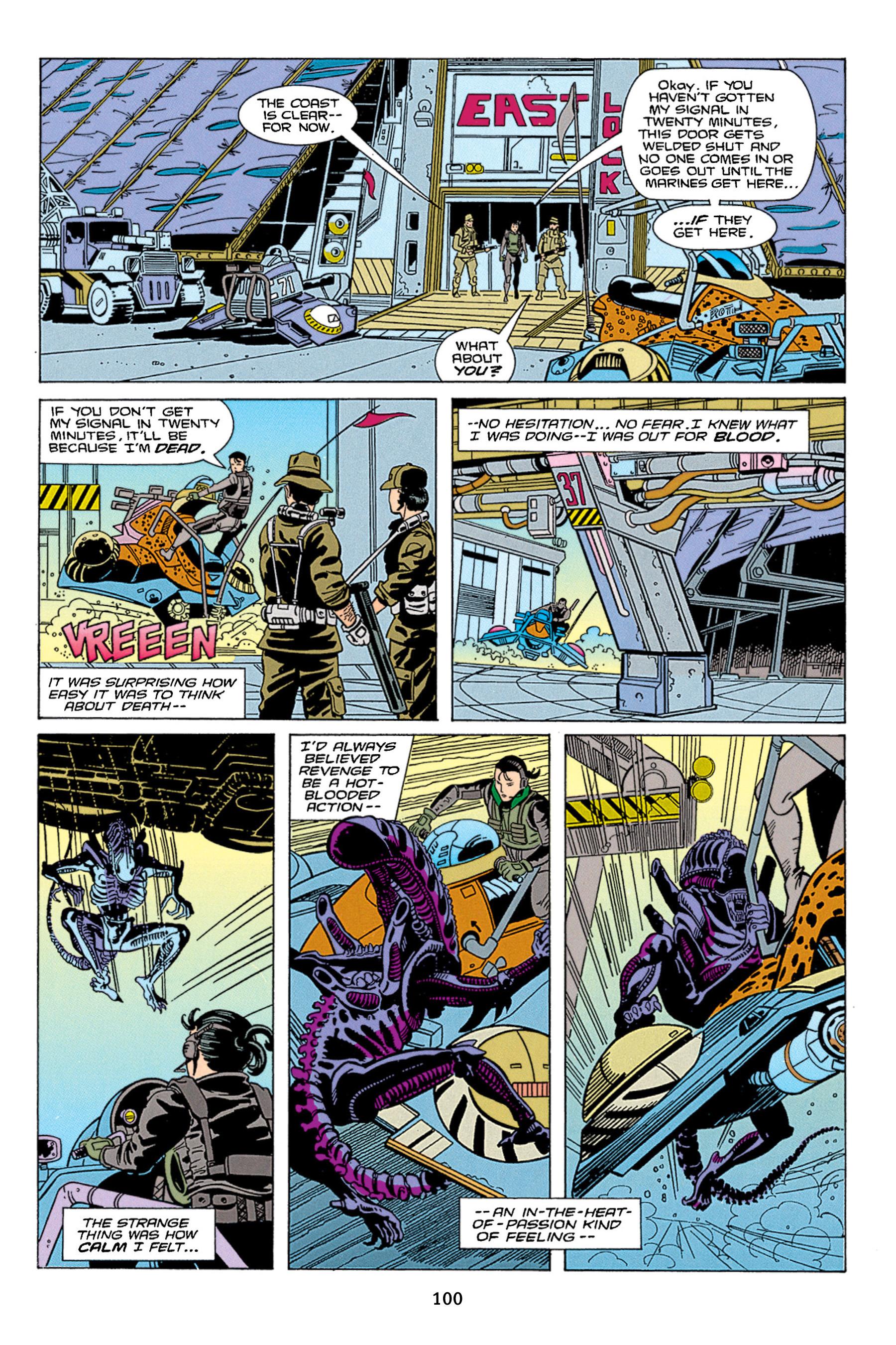 Read online Aliens vs. Predator Omnibus comic -  Issue # _TPB 1 Part 1 - 100