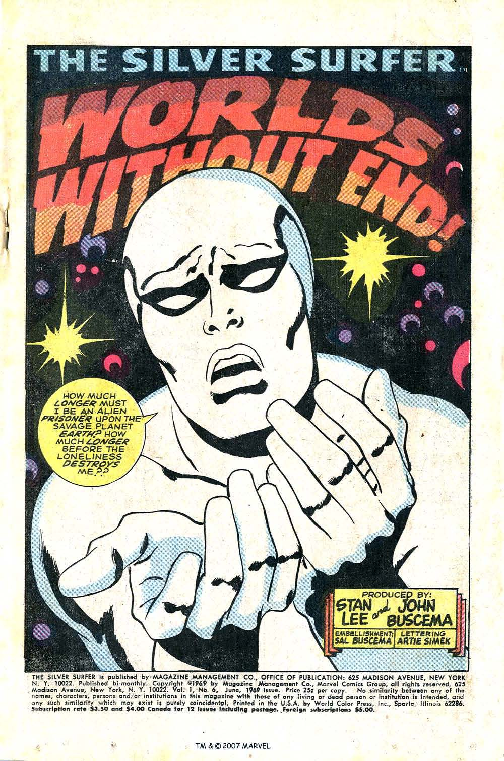 Read online Silver Surfer (1968) comic -  Issue #6 - 3