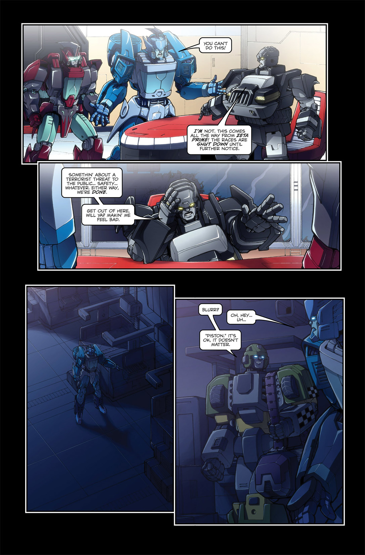Read online Transformers Spotlight: Blurr comic -  Issue # Full - 12