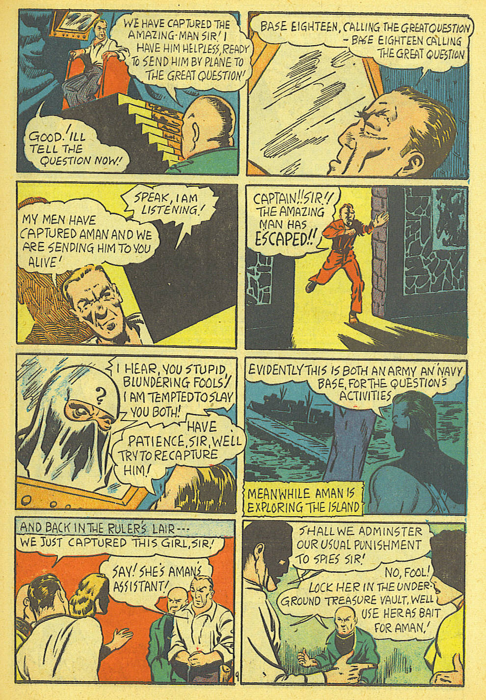 Read online Amazing Man Comics comic -  Issue #19 - 11