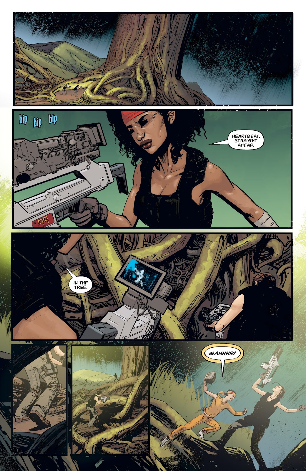 Read online Aliens: Resistance comic -  Issue #4 - 8