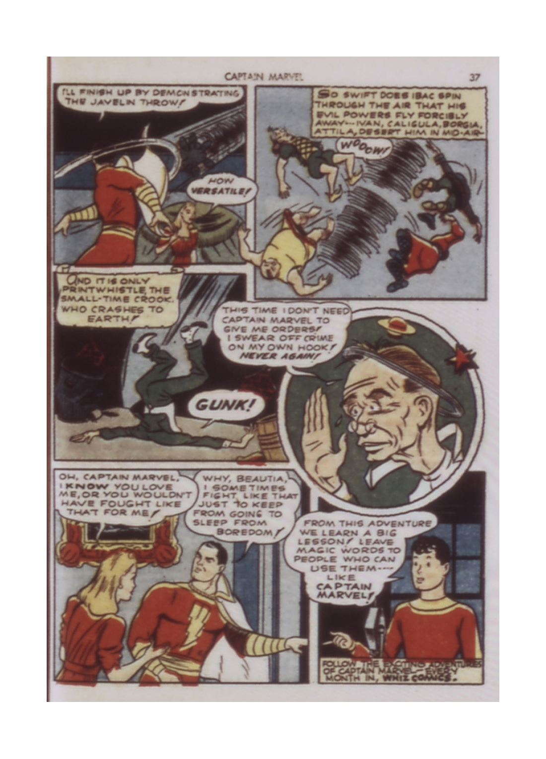 Captain Marvel Adventures issue 9 - Page 37